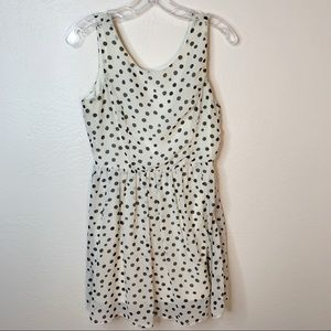 DAMO Textiles, Charcoal on Cream Polka Dot Dress